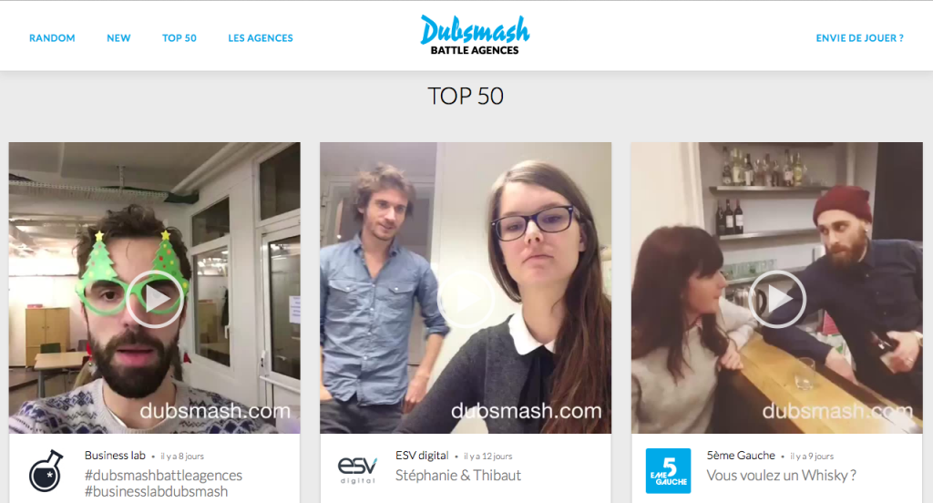 Agence Webmarketing Bordeaux - Dubsmash Battle Agences
