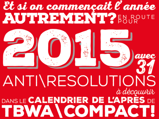 Agence Webmarketing Bordeaux - Calendrier TBWA compact