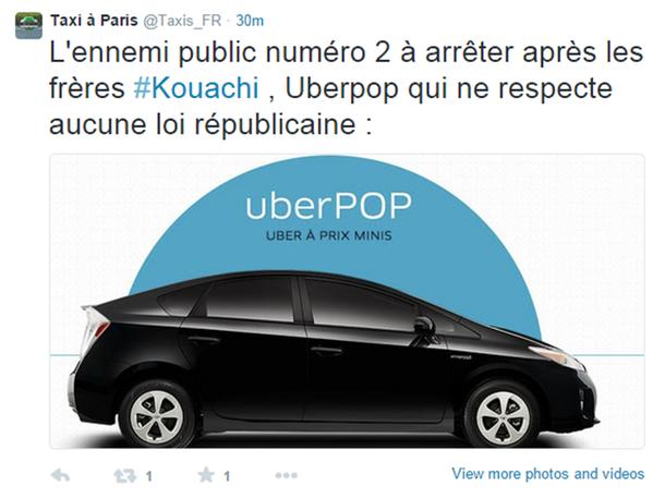 Taxi FR et Uber