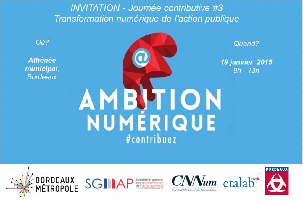 Agence Webmarketing Bordeaux - Journée contributive Ambition numérique